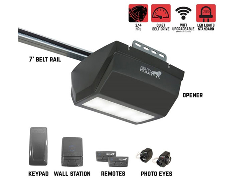 Mighty Mule MM9333H – 3/4 HPe Smart Garage Door Opener